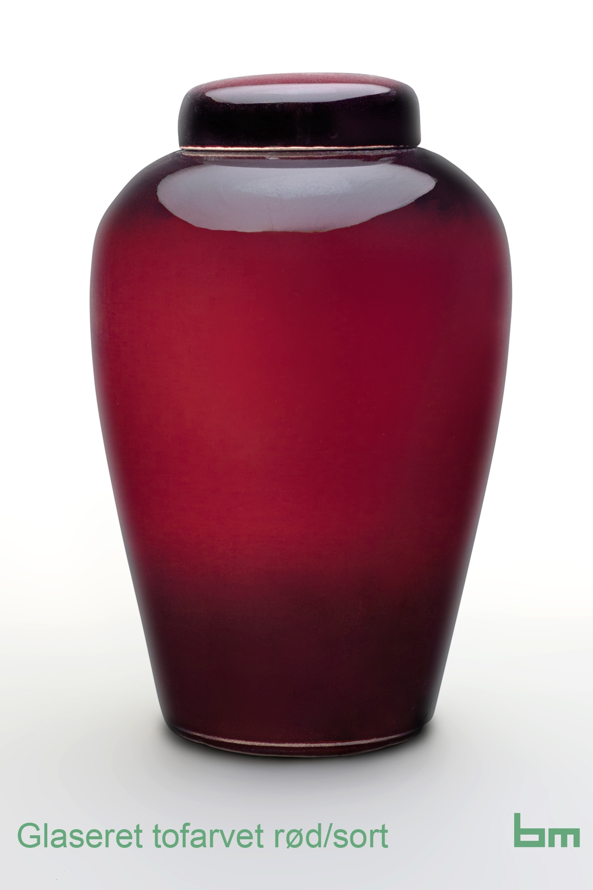 Glaseret tofarvet rødsort
