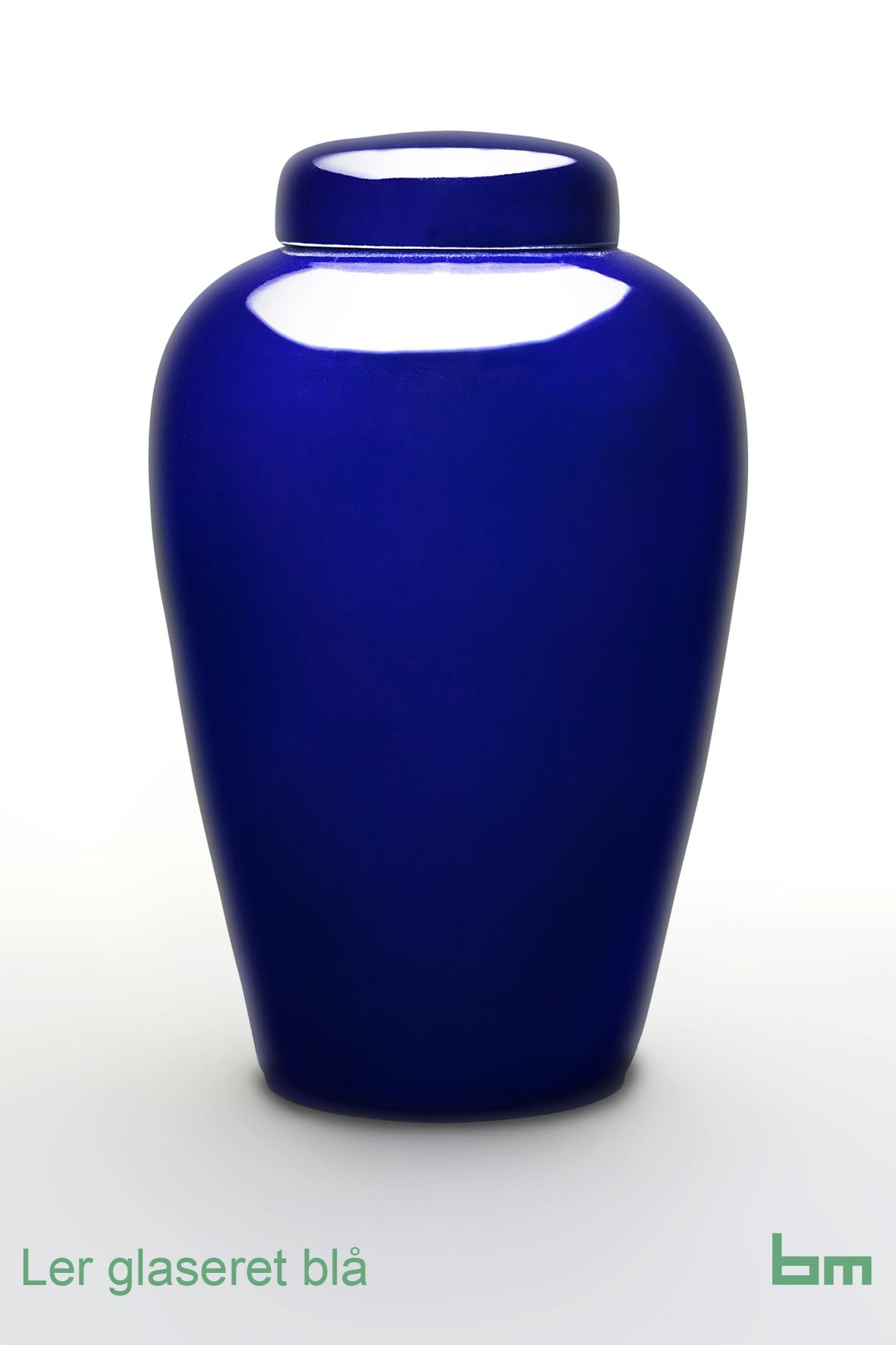 Ler glaseret blå