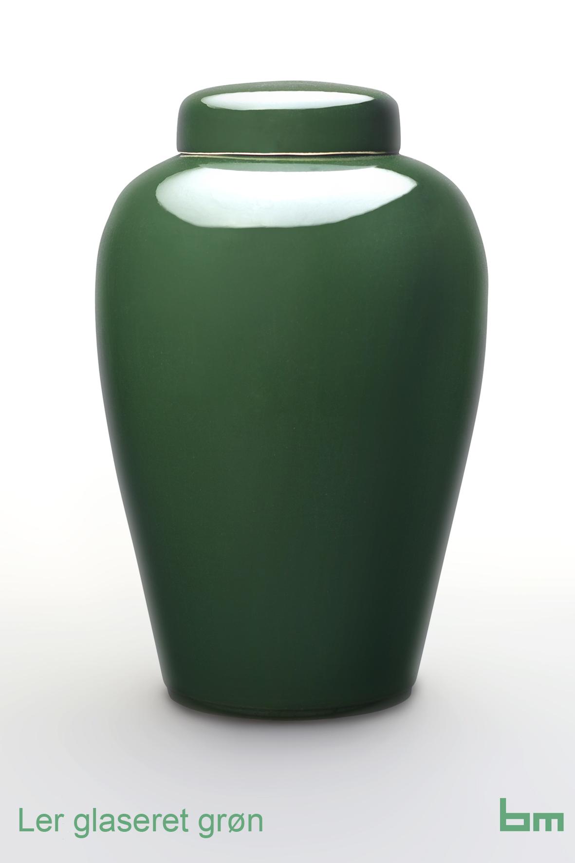 Ler glaseret grøn